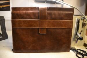 Laptop-Tasche aus Antikleder